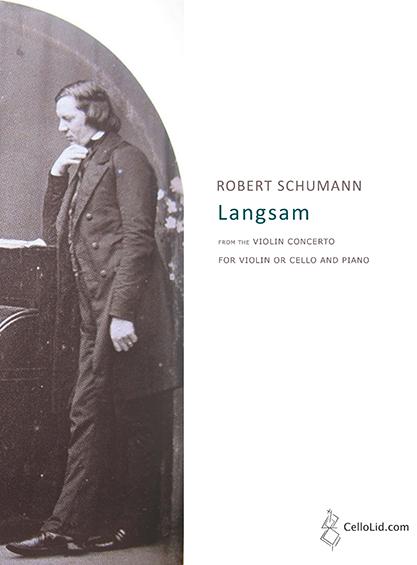 Schumann Langsam - cover